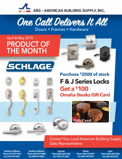 april may F and J series locks ad