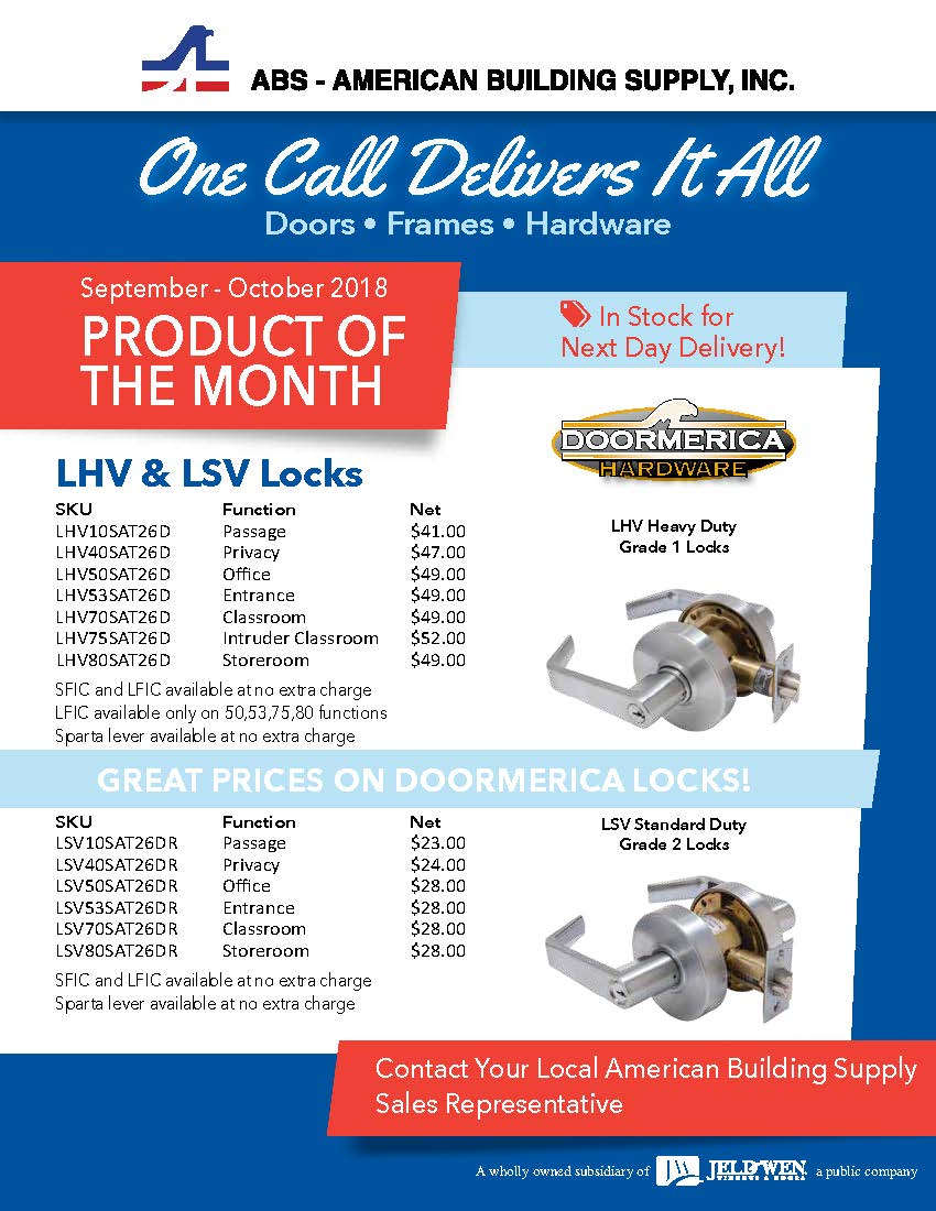 september october LHV & LSV Locks